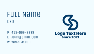 Letter S Trading Company Business Card