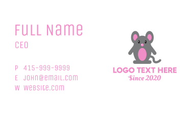 Cute Baby Mouse Business Card