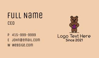 Teddy Bear Toy Business Card