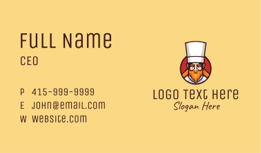 Angry Restaurant Chef Business Card