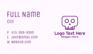 Purple Skull Equalizer Business Card