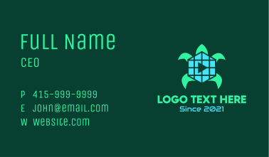 Turtle Media Player Business Card
