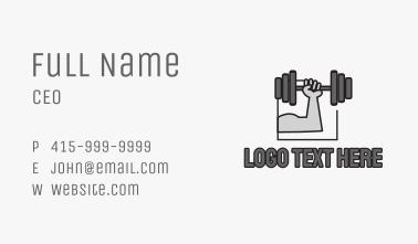 Arm Weightlifting Gym Business Card