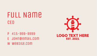 Red Nautical Lighthouse  Business Card