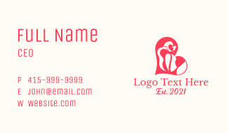 Intimate Lover Heart Business Card