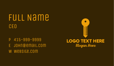 Golden Key Locksmith Business Card