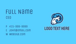 Ram Esport Mascot Business Card