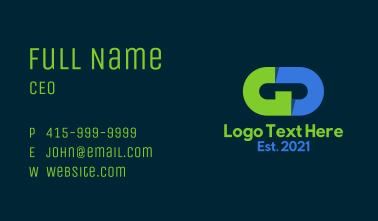 Corporate GD Monogram Business Card