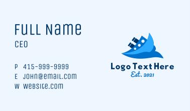 Ocean Travel Boat Business Card
