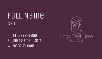 Lady Statue Decoration Business Card
