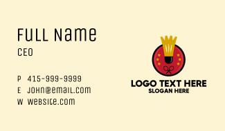 Badminton Star Badge  Business Card