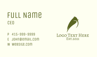 Green Tit Bird Business Card