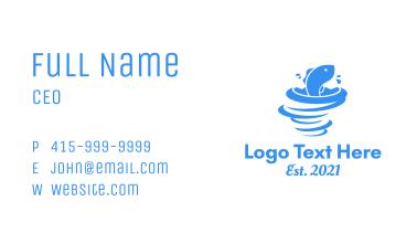 Marine Fish Whirlpool Business Card