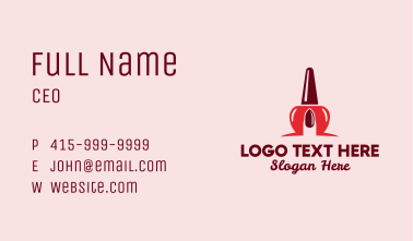 Fingernail Polish Business Card