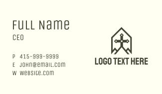 Black Cross Crest Business Card