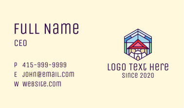 Stained Glass Home Business Card