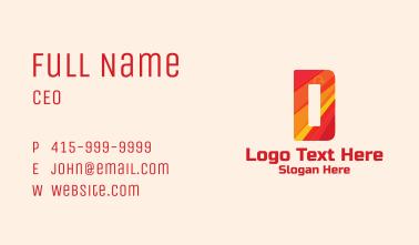 Dynamite Letter D  Business Card