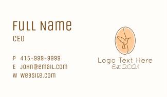 Coffee Bean Bird Business Card