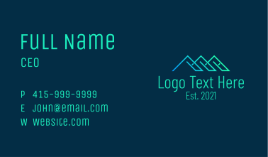 Linear Roof Housing Business Card