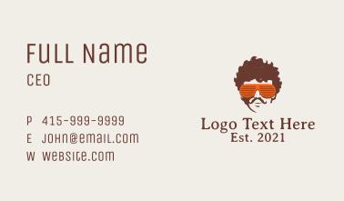 Retro Sunglasses  Business Card