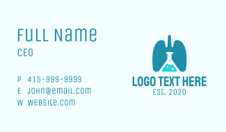 Respiratory Lung Research Laboratory Business Card