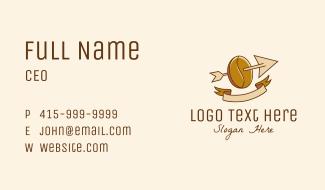 Coffee Bean Arrow Business Card