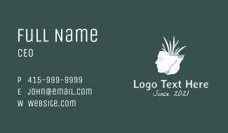 Human Plant Sculpture Business Card