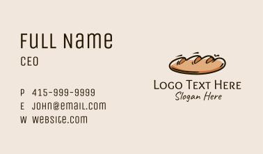 Fresh Bread Loaf  Business Card