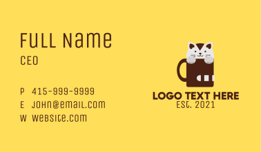 Kitten Coffee Mug  Business Card