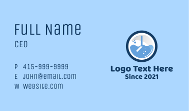 Blue Laundry Time Business Card