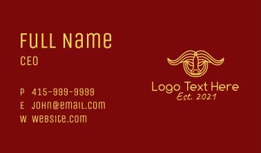 Yellow Taurus Bull Business Card