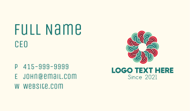 Garden Flower Therapy Business Card