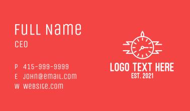White Wristwatch Business Card