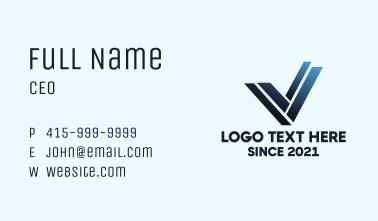 Letter V Steel Structure Business Card