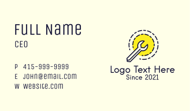 Wrench Tool Badge Business Card