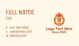 Organic Orange Carrot Business Card