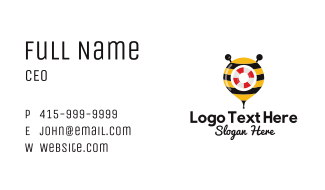 Bee Rescue Location Pin Business Card