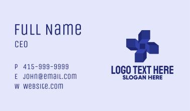 3D Blue Cross  Business Card