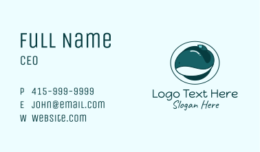 Baby Whale Brush Business Card