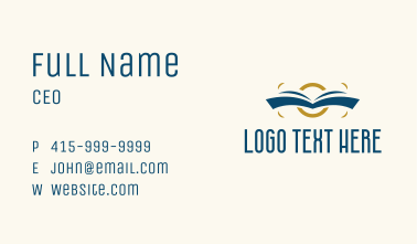 Book Academic Library  Business Card