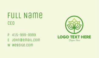 Palm Leaf Emblem Business Card