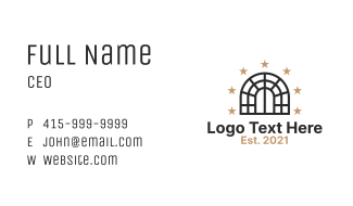 Window Stars Design Business Card