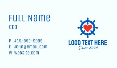Ship Wheel Heart  Business Card