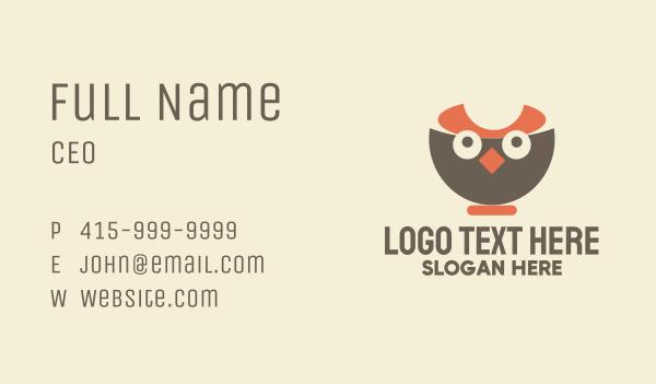 noodles - Owl Bowl Business card horizontal design