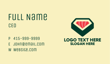Sushi Roll Restaurant  Business Card