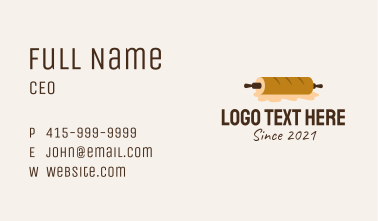 Rolling Pin Bread  Business Card