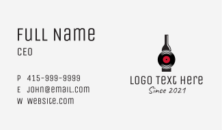 Alcoholic Drink Disk  Business Card