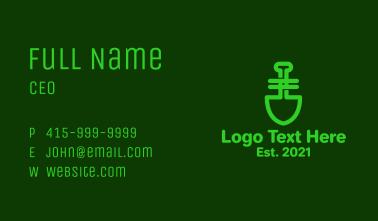 Green Garden Shovel Business Card