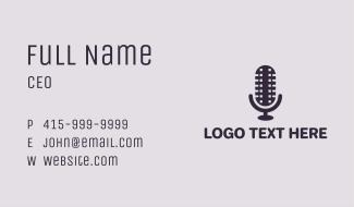 Film Strip Microphone Business Card