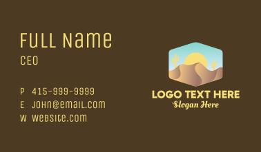 Sand Dune Desert  Business Card